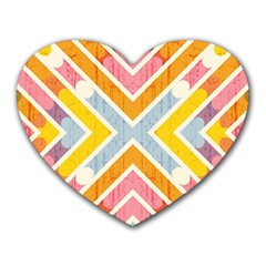 Line Pattern Cross Print Repeat Heart Mousepads by Nexatart