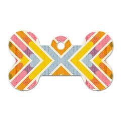 Line Pattern Cross Print Repeat Dog Tag Bone (two Sides) by Nexatart