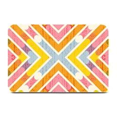Line Pattern Cross Print Repeat Plate Mats