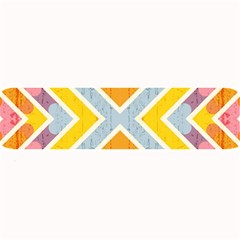 Line Pattern Cross Print Repeat Large Bar Mats by Nexatart