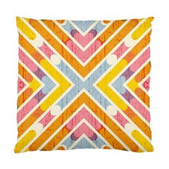 Line Pattern Cross Print Repeat Standard Cushion Case (two Sides) by Nexatart