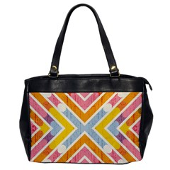 Line Pattern Cross Print Repeat Office Handbags by Nexatart