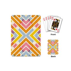 Line Pattern Cross Print Repeat Playing Cards (mini)