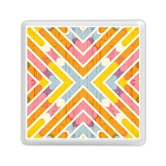 Line Pattern Cross Print Repeat Memory Card Reader (square)  by Nexatart