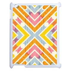 Line Pattern Cross Print Repeat Apple Ipad 2 Case (white) by Nexatart