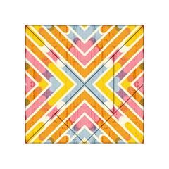 Line Pattern Cross Print Repeat Acrylic Tangram Puzzle (4  X 4 )