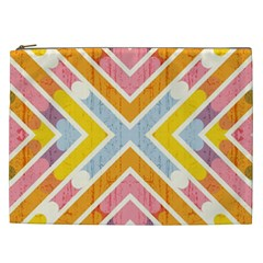 Line Pattern Cross Print Repeat Cosmetic Bag (xxl)  by Nexatart
