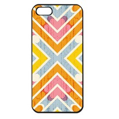 Line Pattern Cross Print Repeat Apple Iphone 5 Seamless Case (black) by Nexatart