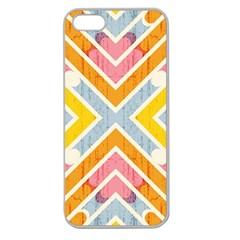 Line Pattern Cross Print Repeat Apple Seamless Iphone 5 Case (clear) by Nexatart