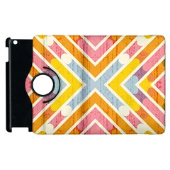 Line Pattern Cross Print Repeat Apple Ipad 3/4 Flip 360 Case by Nexatart