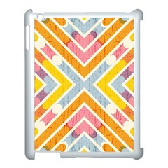 Line Pattern Cross Print Repeat Apple Ipad 3/4 Case (white) by Nexatart