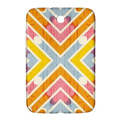 Line Pattern Cross Print Repeat Samsung Galaxy Note 8 0 N5100 Hardshell Case  by Nexatart