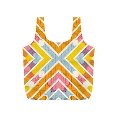 Line Pattern Cross Print Repeat Full Print Recycle Bags (s)  by Nexatart