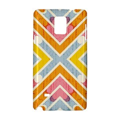 Line Pattern Cross Print Repeat Samsung Galaxy Note 4 Hardshell Case by Nexatart