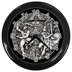 Pattern Motif Decor Wall Clocks (black)