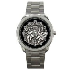 Pattern Motif Decor Sport Metal Watch by Nexatart