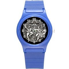 Pattern Motif Decor Round Plastic Sport Watch (s) by Nexatart