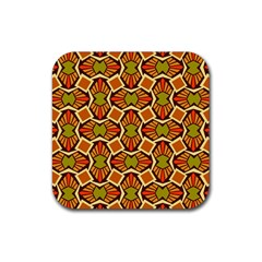 Geometry Shape Retro Trendy Symbol Rubber Square Coaster (4 Pack)  by Nexatart