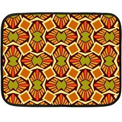 Geometry Shape Retro Trendy Symbol Double Sided Fleece Blanket (mini)