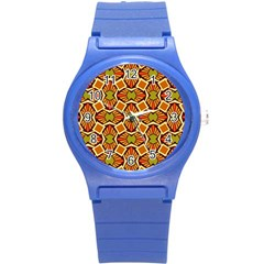 Geometry Shape Retro Trendy Symbol Round Plastic Sport Watch (s) by Nexatart