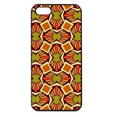 Geometry Shape Retro Trendy Symbol Apple Iphone 5 Seamless Case (black)