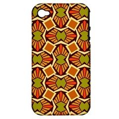 Geometry Shape Retro Trendy Symbol Apple Iphone 4/4s Hardshell Case (pc+silicone)