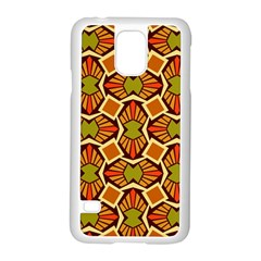 Geometry Shape Retro Trendy Symbol Samsung Galaxy S5 Case (white) by Nexatart