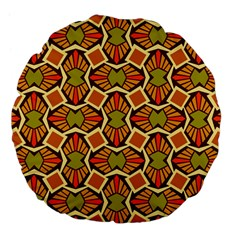Geometry Shape Retro Trendy Symbol Large 18  Premium Flano Round Cushions
