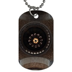 Pattern Design Symmetry Up Ceiling Dog Tag (one Side)