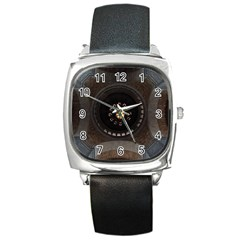 Pattern Design Symmetry Up Ceiling Square Metal Watch
