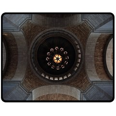 Pattern Design Symmetry Up Ceiling Fleece Blanket (medium)  by Nexatart