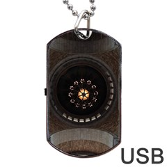 Pattern Design Symmetry Up Ceiling Dog Tag Usb Flash (one Side) by Nexatart