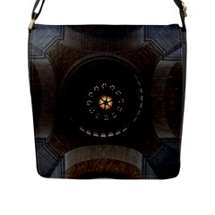 Pattern Design Symmetry Up Ceiling Flap Messenger Bag (l)  by Nexatart