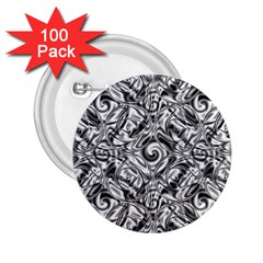 Gray Scale Pattern Tile Design 2 25  Buttons (100 Pack)
