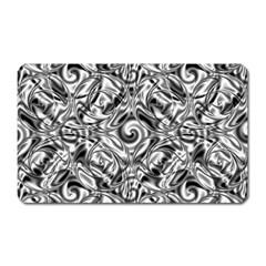 Gray Scale Pattern Tile Design Magnet (rectangular) by Nexatart