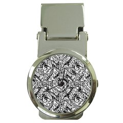 Gray Scale Pattern Tile Design Money Clip Watches by Nexatart