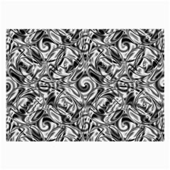 Gray Scale Pattern Tile Design Large Glasses Cloth (2 Side)