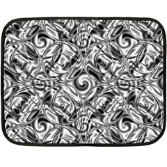 Gray Scale Pattern Tile Design Fleece Blanket (mini) by Nexatart