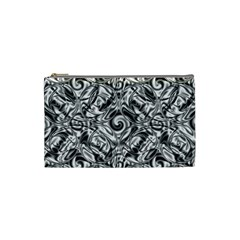 Gray Scale Pattern Tile Design Cosmetic Bag (small)  by Nexatart