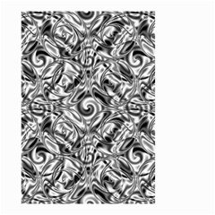 Gray Scale Pattern Tile Design Small Garden Flag (two Sides)