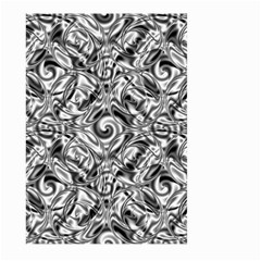 Gray Scale Pattern Tile Design Large Garden Flag (two Sides) by Nexatart