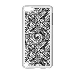 Gray Scale Pattern Tile Design Apple Ipod Touch 5 Case (white) by Nexatart