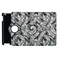 Gray Scale Pattern Tile Design Apple Ipad 2 Flip 360 Case by Nexatart