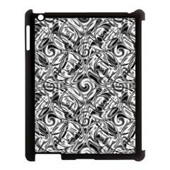 Gray Scale Pattern Tile Design Apple Ipad 3/4 Case (black) by Nexatart