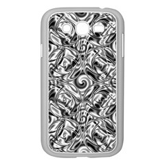 Gray Scale Pattern Tile Design Samsung Galaxy Grand Duos I9082 Case (white) by Nexatart