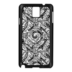 Gray Scale Pattern Tile Design Samsung Galaxy Note 3 N9005 Case (black) by Nexatart