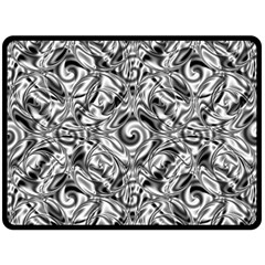 Gray Scale Pattern Tile Design Double Sided Fleece Blanket (large)  by Nexatart
