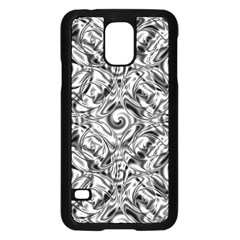 Gray Scale Pattern Tile Design Samsung Galaxy S5 Case (black)