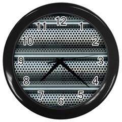 Sheet Holes Roller Shutter Wall Clocks (black) by Nexatart