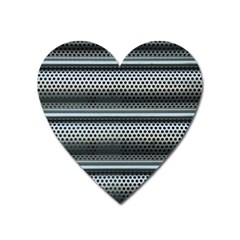 Sheet Holes Roller Shutter Heart Magnet by Nexatart